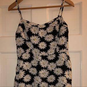 Black Sundress with Daisy Print